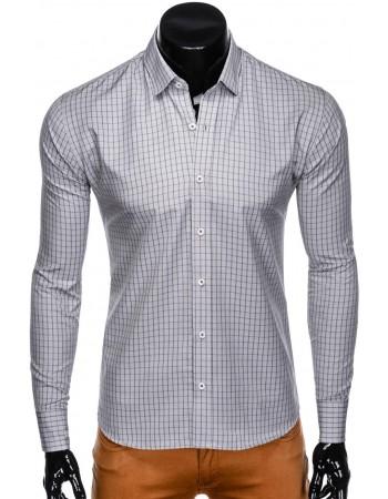 Senzačná sivá košeľa pre pánov K446