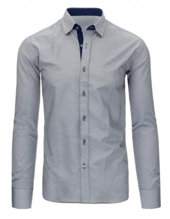 Čierno-biela košeľa s károvaným vzorom (dx1296)