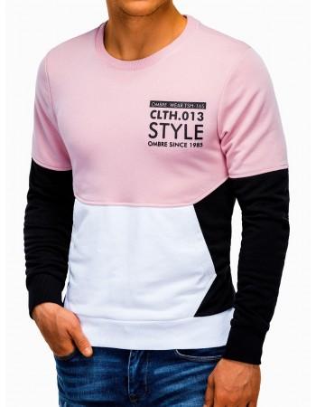 Men's printed sweatshirt B936 - black