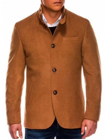 Pánsky hnedý kabát C427, veľ. XXL