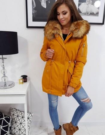 Žltá dámska zimná bunda ONYX II (ty0867), veľ. XL