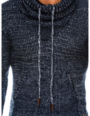 Pánsky sveter E152 - tmavomodrý, veľ. XL