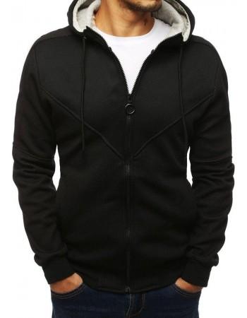 Pánska mikina na zips (bx4141) - čierna, veľ. M