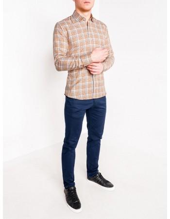 Pánska casual košeľa K452 - beige, veľ. XXL