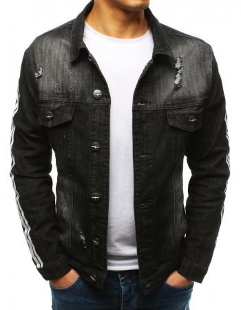 Čierna pánska džínsová bunda (tx2635), veľ. L