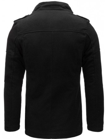Čierny pánsky kabát (cx0399), veľ. XL