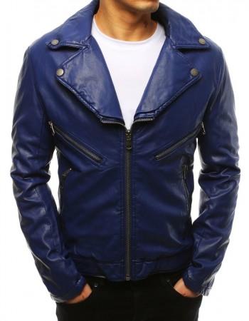 Modrá koženková pánska bunda (tx2621), veľ. L