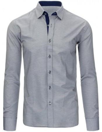 Čierno-biela pánska košeľa s károvaným vzorom (dx1296), veľ. XL