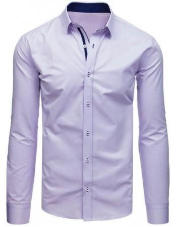 Fialová vzorovaná košeľa pre pánov (dx1713), veľ. XL
