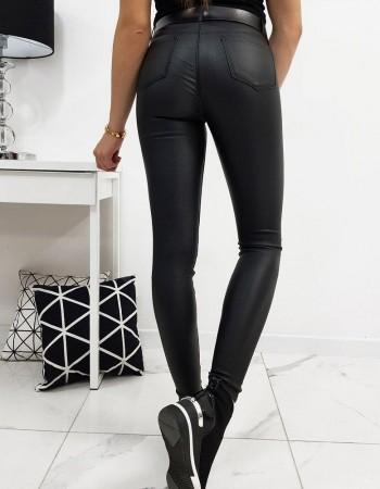 Spodnie damskie woskowane BALI czarne UY0217