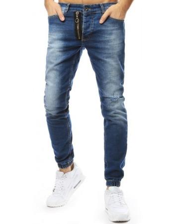 Modré džínsové joggery pre pánov (ux2178), veľ. 31