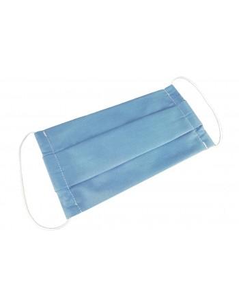 Dvojvrstvové ochranné rúško z bavlny - modré