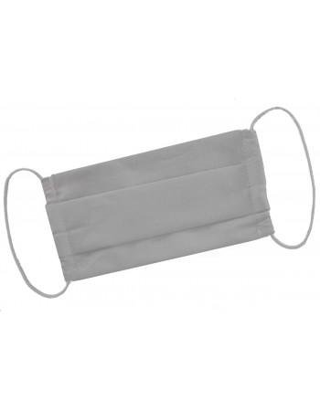 Dvojvrstvové ochranné rúško z bavlny - sivé
