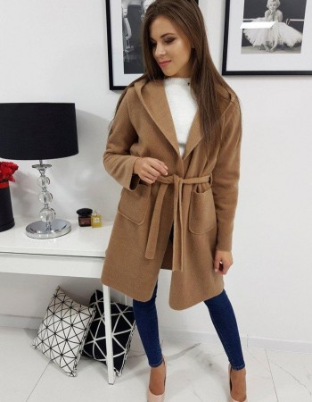 Dámsky kabát STREET (ny0263) - kamelový