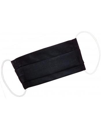 Dvojvrstvové ochranné rúško z bavlny - čierne