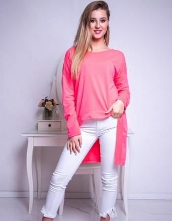 Bluzka damska LOOK neonowy różowy RY0611