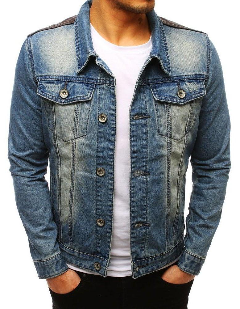 Pánska džínsová bunda (tx2645) - modrá