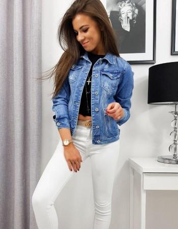 Dámska džínsová bunda SIMONE TY1103 - modrá
