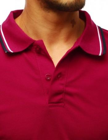 Koszulka polo męska bordowa PX0218