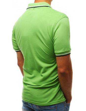 Koszulka polo męska zielona PX0222