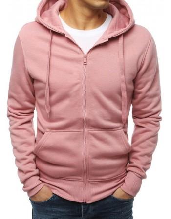 Pánska ružová mikina na zips (bx4251)