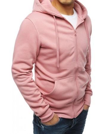 Bluza męska z kapturem różowa BX4251
