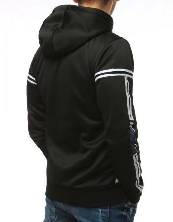 Bluza męska z kapturem czarna BX4303