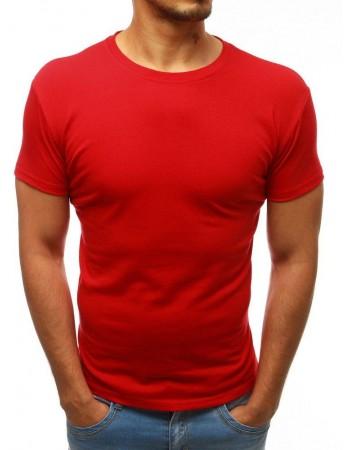 Jednofarebné pánske tričko (rx2575) - červené