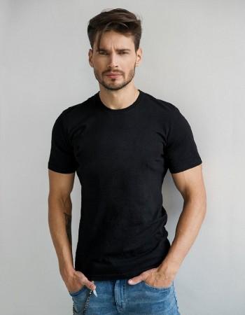 Jednofarebné pánske tričko (rx2572) - čierne
