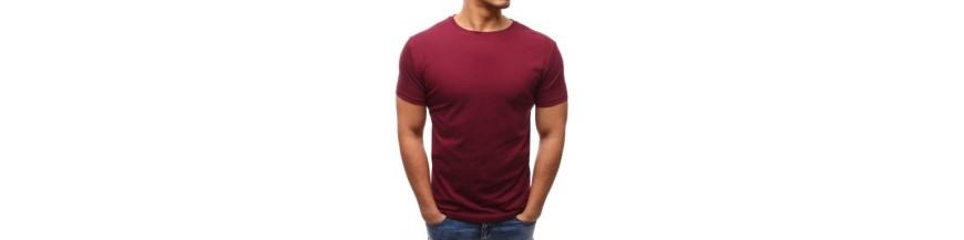 Pánske tričká s krátkym rukávom - bez potlače