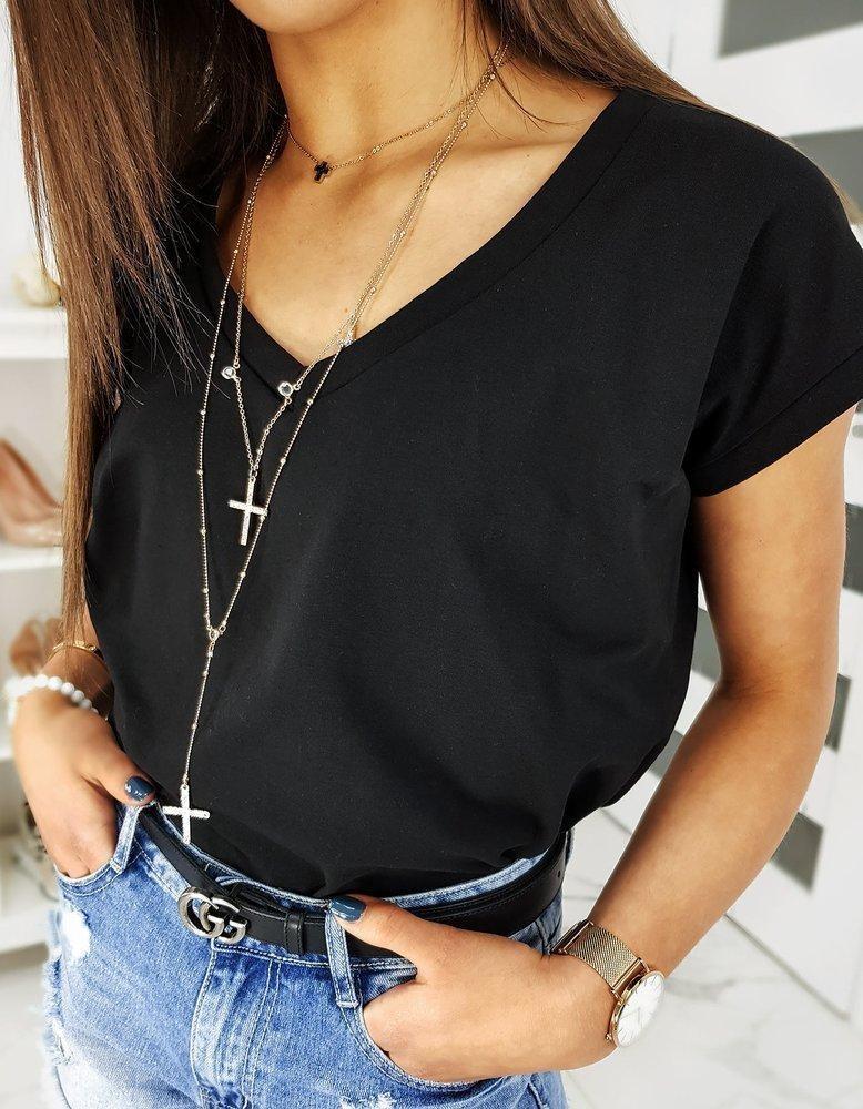 Čierne dámske tričko LOLI RY1278, veľ. UNI - UNI