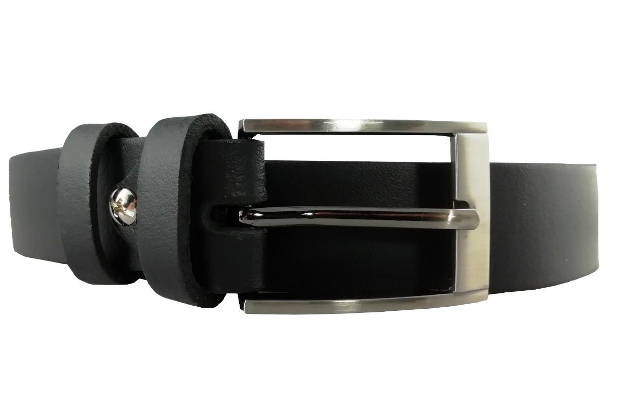 Klasický kožený čierny opasok OP-004 - 95cm
