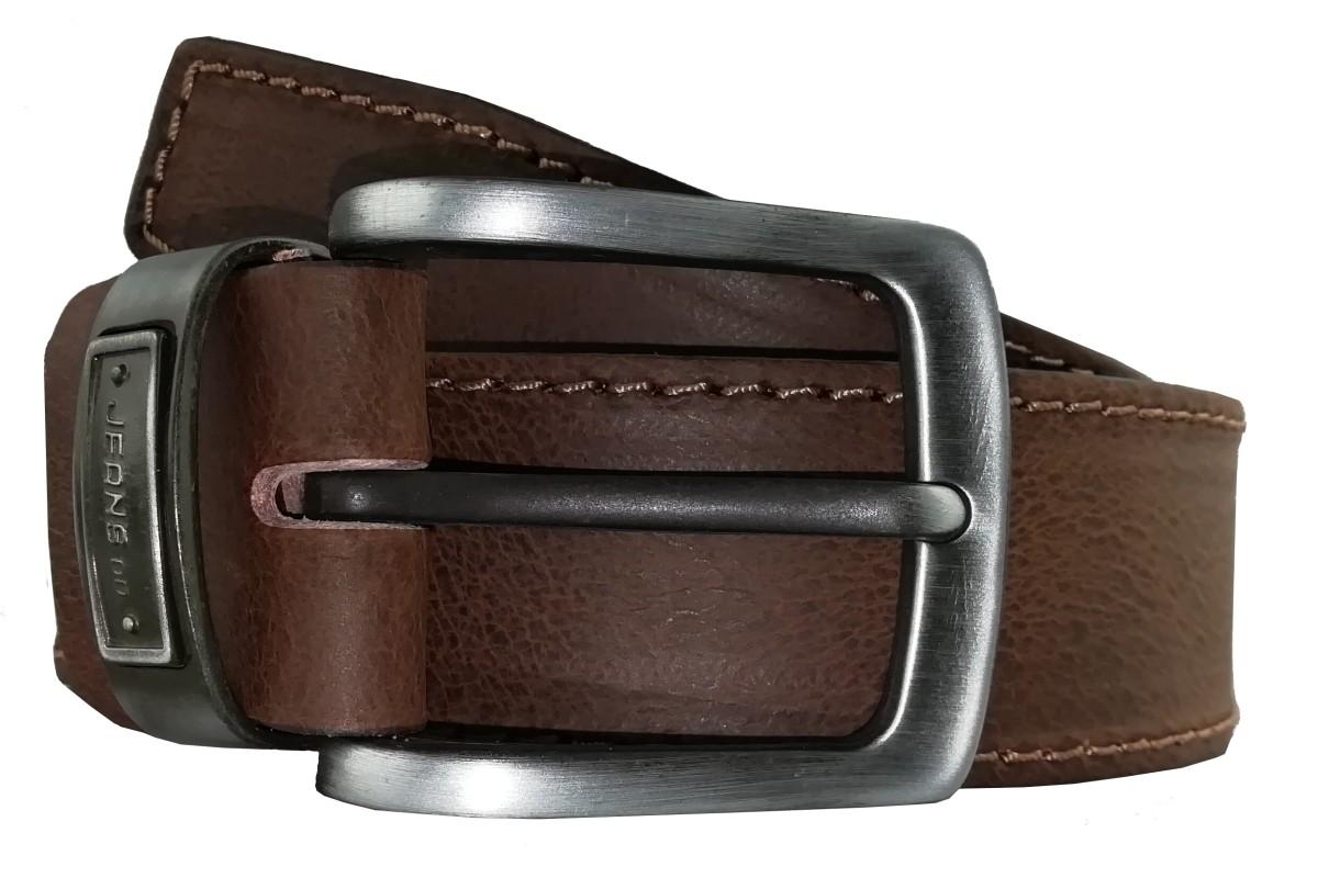 Pánsky hnedý kožený opasok OP-006 - 95cm
