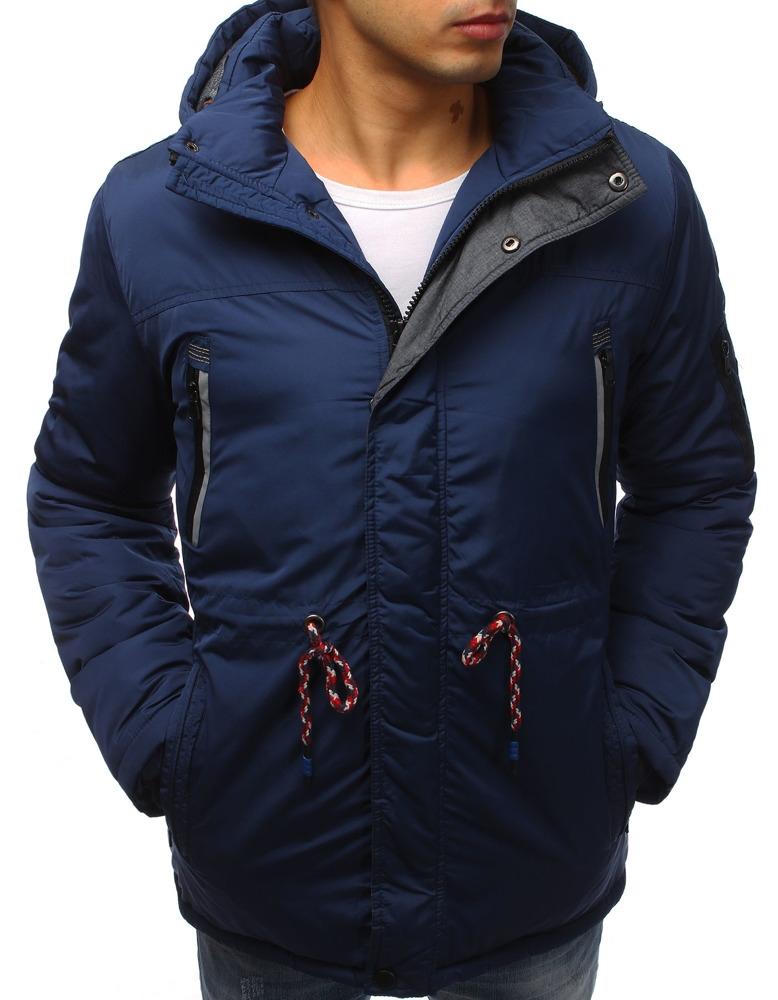 Pánska zimná bunda (tx2481) - tmavo modrá, veľ. XXL - XXL