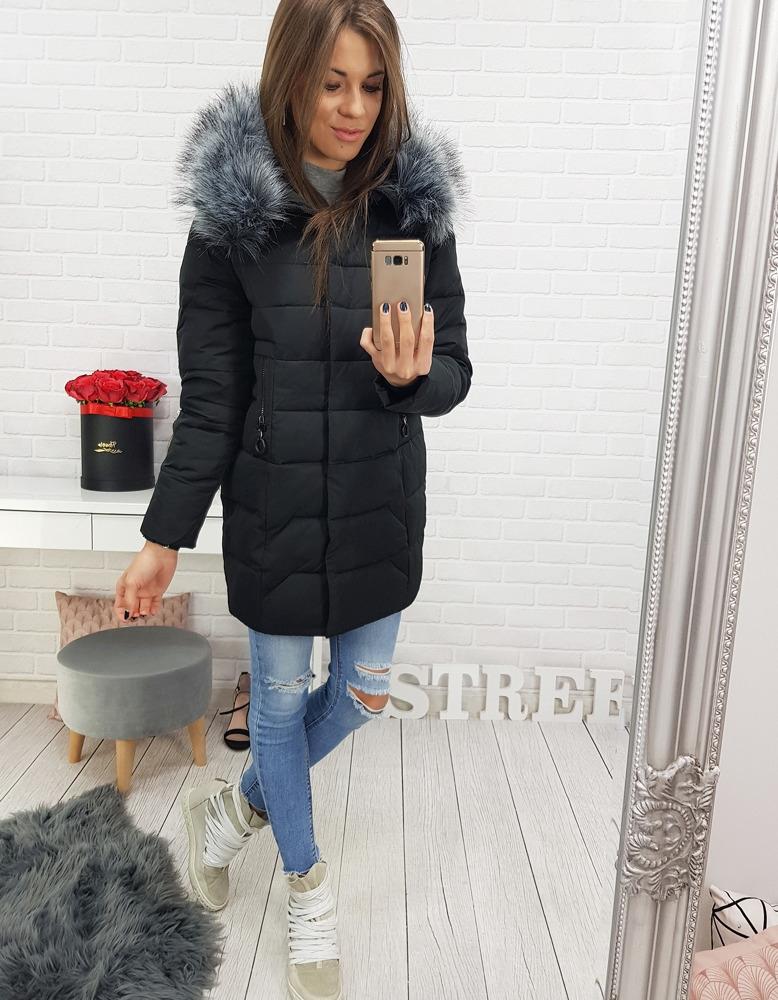 Dámska zimná prešívaná bunda (ty0406) - čierna, veľ. XXL - XXL