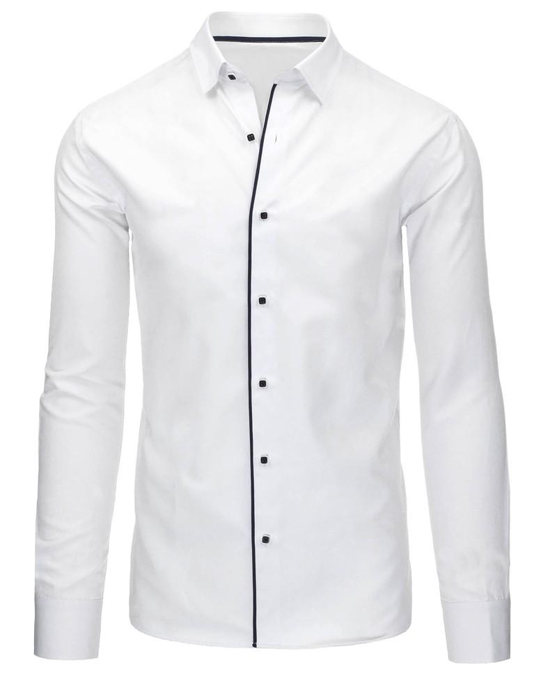 Elegantná pánska košeľa (dx1044) - biela, veľ. XL - XL