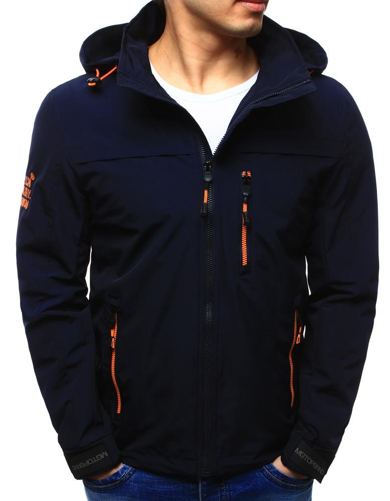 Pánska tmavo modrá bunda na prechodné obdobie (tx2107), veľ. L - L