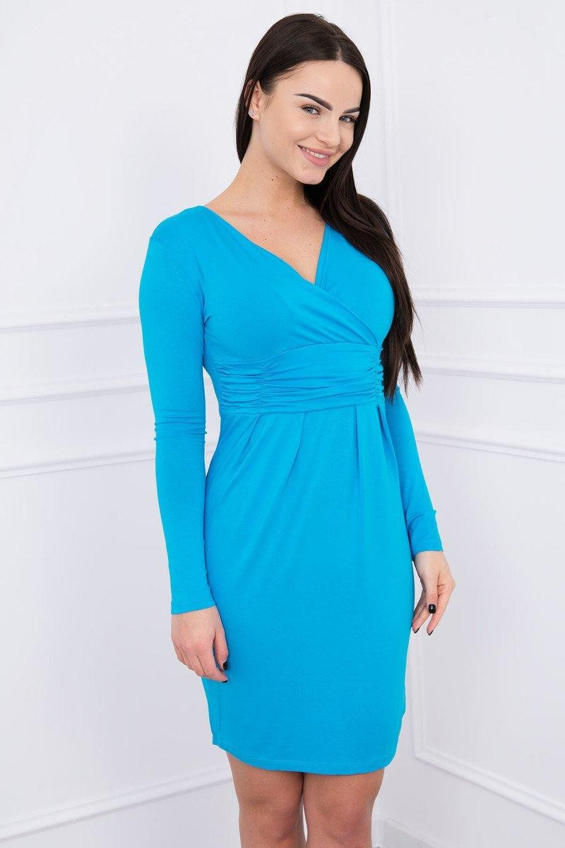 Dámske šaty 8318 - tyrkysové - S