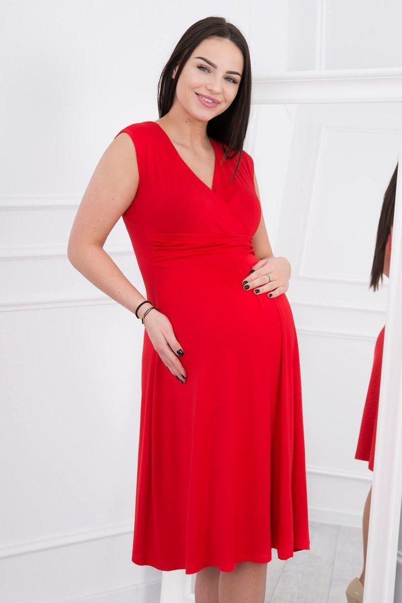Červené dámske šaty 8288 - S