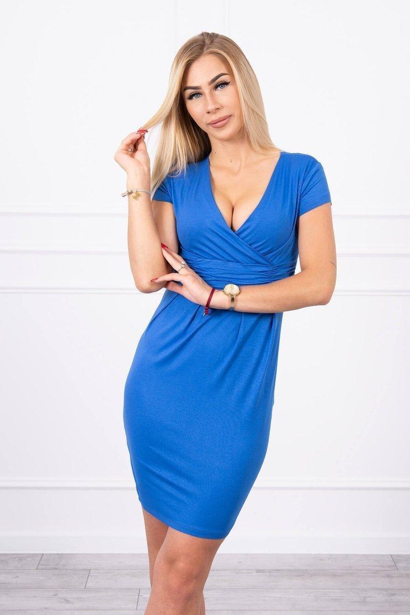 Dámske modré šaty 8310 - XXXL