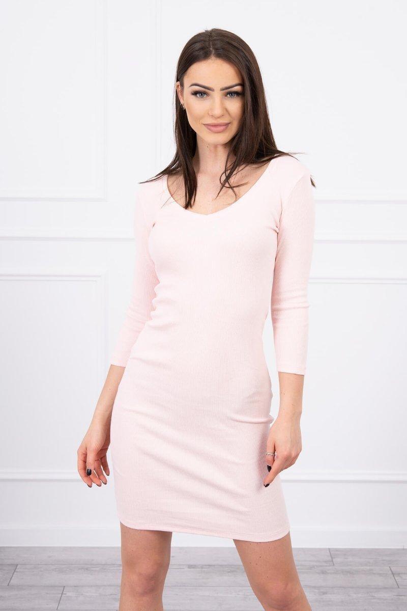 Dámske šaty 8863 - púdrovo ružové - Uni