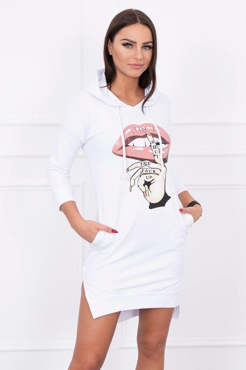 Dámska šaty s potlačou 64632 - biele - Uni