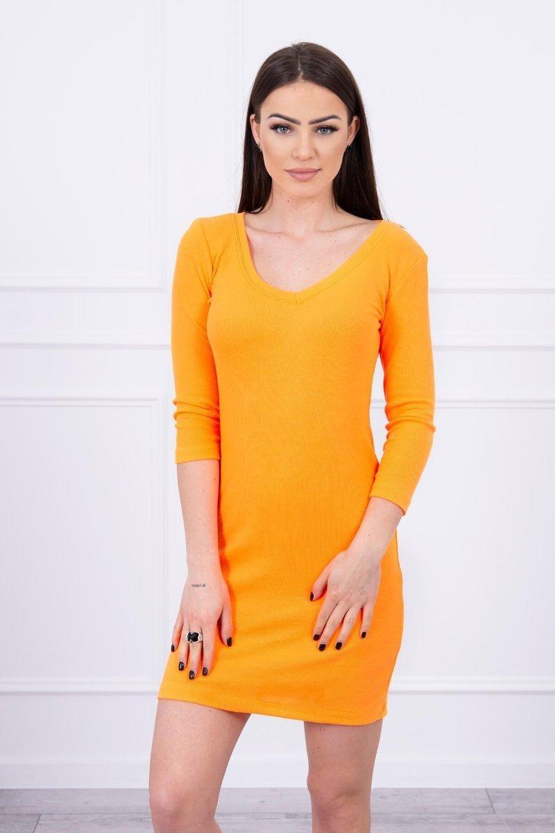 Dámske šaty 8863 - neónovo oranžové - Uni