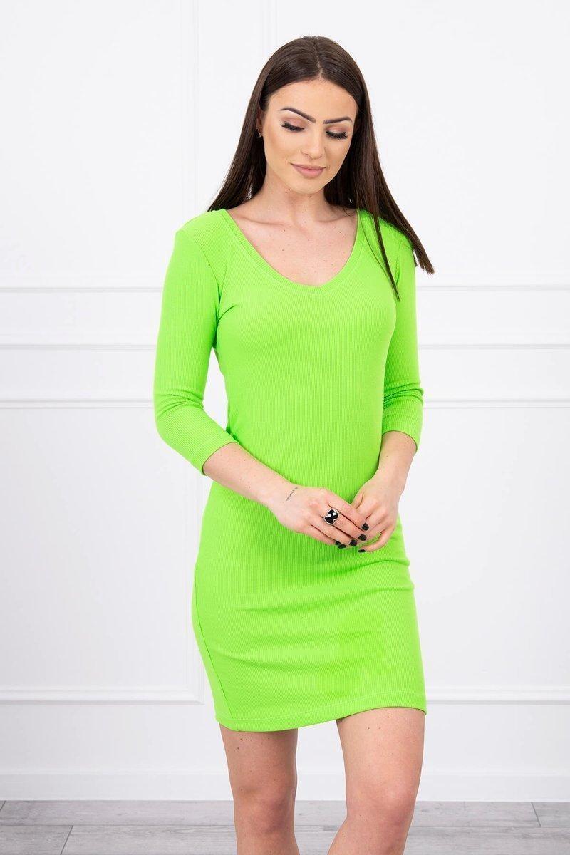 Dámske šaty 8863 - neónovo zelené - Uni