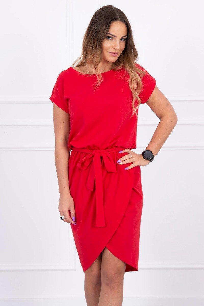 Dámske šaty 8980 - červené - Uni