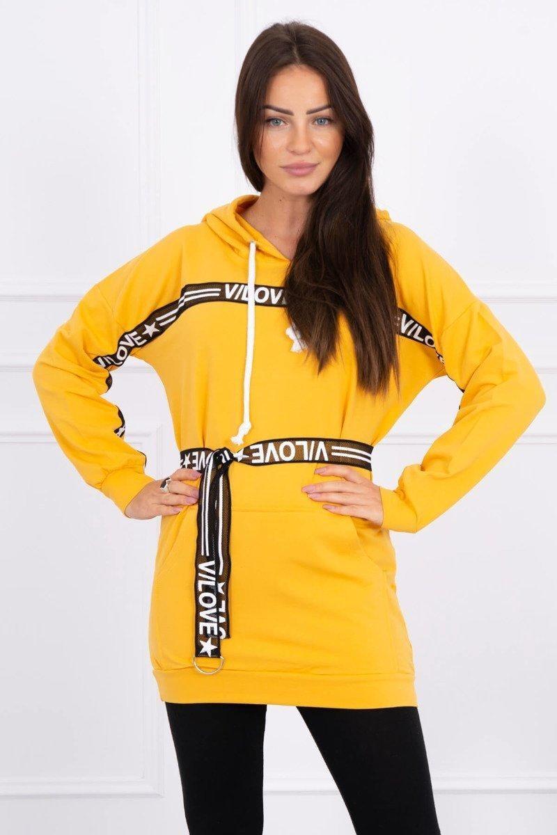 Dámske horčicové šaty 0140 - Uni