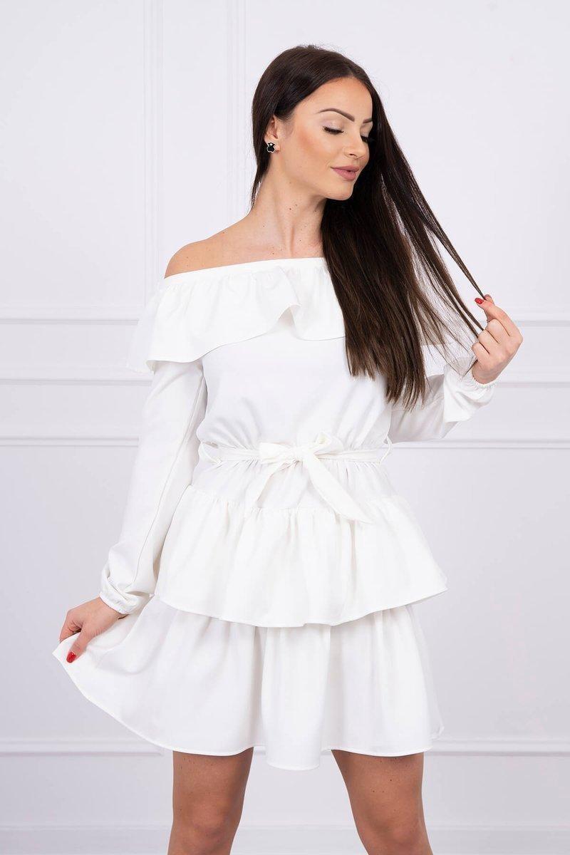 Dámske španielske šaty 65986 - ecru - Uni
