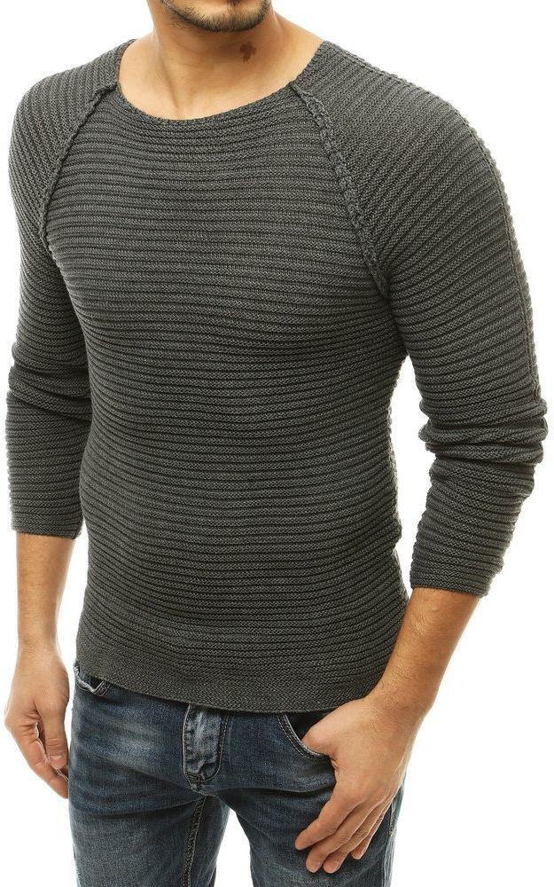 Antacitový pánsky sveter WX1660 - L