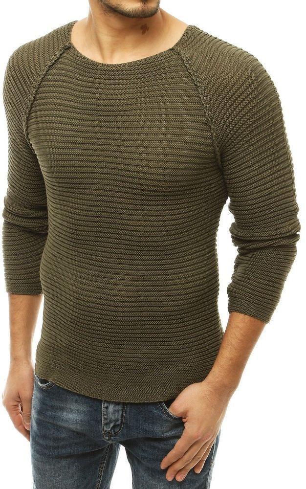 Kaki pánsky sveter WX1663 - L