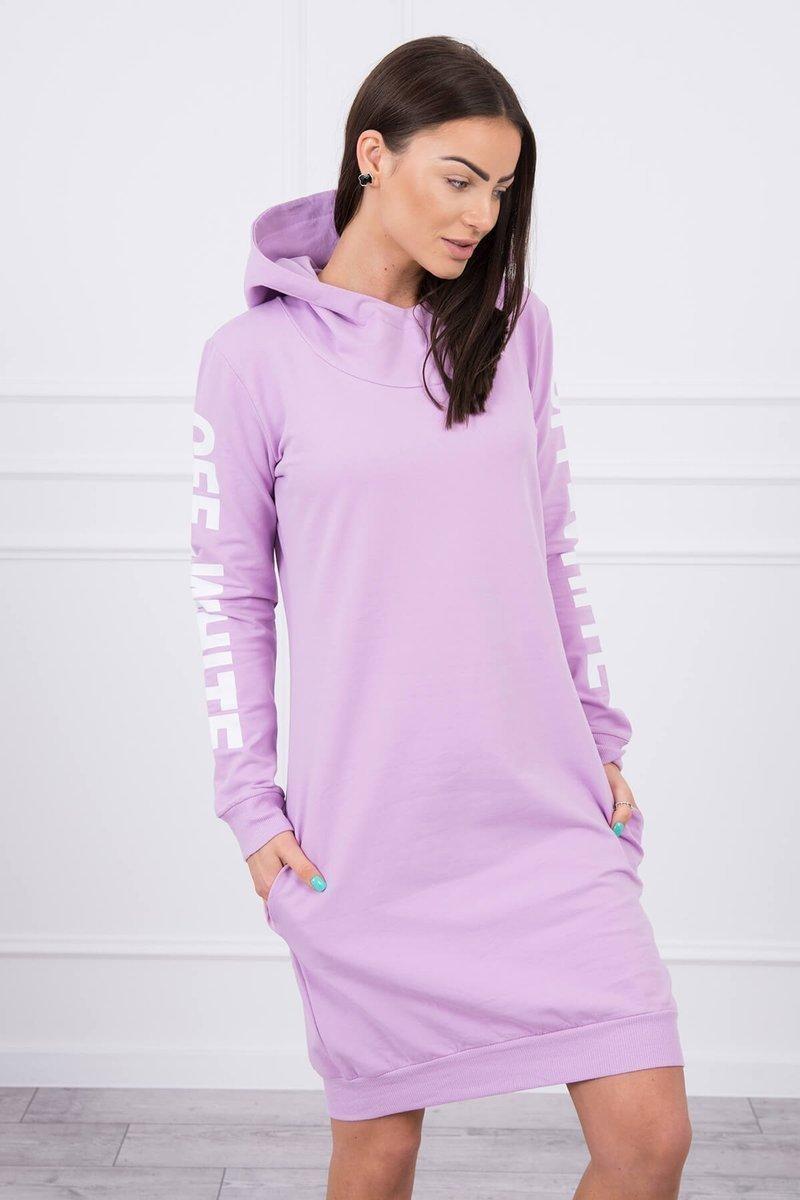 Mikinové dámske šaty 62072 - fialové - Uni